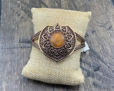 & Copper- New With Tags Barse Pompeii Cuff Bracelet-Tangerine Quartz