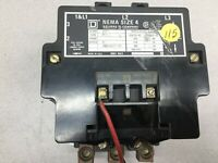 USED SQUARE D SIZE 4 600VAC 480VAC COIL 3POLE CONTACTOR 8502SF02