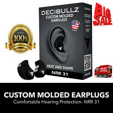 Molded Earplugs Decibullz Shooting Travel Swimming Hearing Protection Concerts