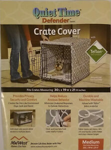 """Midwest Quiet Time Defender Crate Cover Gray Medium 30""""L x19""""W x 21""""H"""