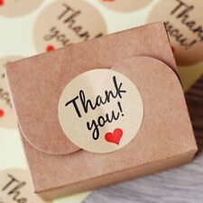 """60 Pcs Party Gift """"Thank You"""" Label Sticker Craft Packaging Seals Paper Kraft"""