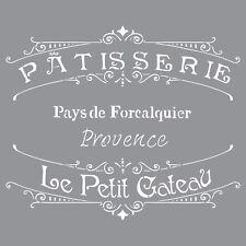 """Pochoir motif """"Patisserie de Provence"""" - Americana Decor Stencil - 30,5X30,5cm"""