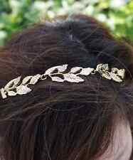 Gold Leaf Headband Greek Goddess Headpiece, Coachella Headband, Summer Headband