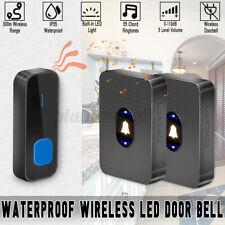 1000ft/300M Range Wireless LED Waterproof Door Bell Cordless 55 Chime
