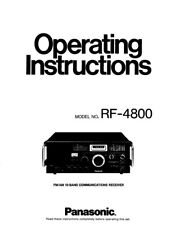 Panasonic RF-4800 Communications Receiver Owners Instruction Manual