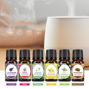 6 Bottles Essential Oil Set Box 100% Pure Nature Bottles for Aroma Diffuser ^&