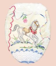 Vintage Horse Toilet Seat Lid Cover by Audrey Belisle for Love Vanilla Rose