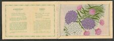 More details for kensitas wix tobacco silk postcard flower candytuft / thrift  folder type a
