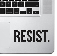 Inspirational Laptop Sticker Vinyl Decal RESIST For Macbook Air Pro iPad Keypad