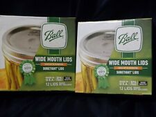 Canning Jar Regular Small Mouth Ball Sure Tight Lids Only Lot of 2 Packs 24