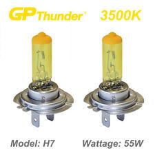 GP Thunder 3500K Super Gold Xenon Halogen Light Bulbs Pair H7 55W