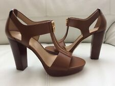 New Michael Kors Sandals Leather Heels  Brown US 7.5