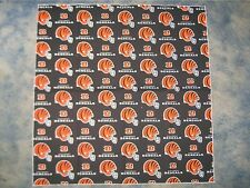 "NFL CINCINNATTI BENGALS XL 25"" HEAD BANDANA / CHEERING CLOTH - APPROX 25"""