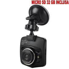 MINI TELECAMERA PER AUTO FULL HD + SD32GB CAR CAM DVR 1080p  G SENSOR CAMCORDER