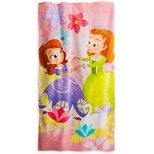 Disney Store SOFIA & AMBER Terry Cloth Beach Towel Pool Bath Sophia 30 x 60 in