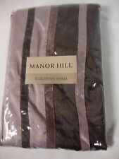 NEW Manor Hill European Sham Purple Pillow Case Bedding Sheet Striped 26 x 26