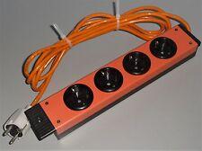 Steckdosenleiste RITTAL 4-fach Schuko Steckdose ohne Schalter orange - wie neu