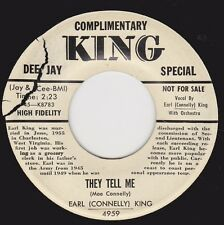 """EARL (CONNELLY) KING - """"THEY TELL ME"""" b/w """"I CALL ON YOU"""" on KING  (VG++ / M-)"""