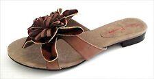 New Sandals Couleur Pourpre leather women's shoes size us 7.5 EUR 38