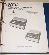 NEC Service Manual 9000 series VCR 9307 & Schematic Diagrams VC-9207E VC-9307E