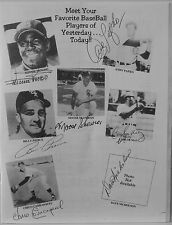 "AUTOGRAPHED B&W 8.25 X 11"" PHOTO COLLAGE OF 7 MLB PLAYERS/ BILL ""MOOSE"" SKOWRON"