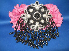BLACK EPAULET BEADED APPLIQUE 0433-M