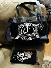Juicy Couture Black Hearts Ring Bling Daydreamer Bag Heart Mirror Purse w Wallet