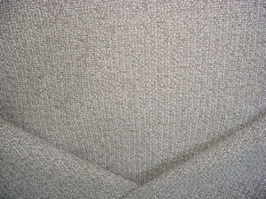2Y KELLY WEARSTLER GREY SOFT WHITE TEXTURED BOUCLE UPHOLSTERY FABRIC