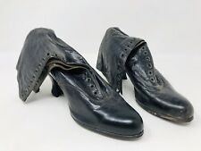Antique Vintage Victorian Leather High Heel Lace Up Boots Steampunk Gothic SS19