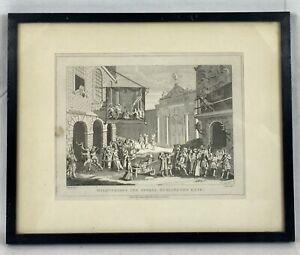Antique Etching 'Masquerades and Operas, Burlington Gate'. William HOGARTH,1807