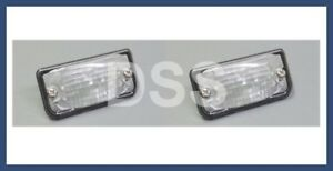 Genuine Mercedes SL550 SL63 License Plate Lamp Light Lens Rear (x2) Set OEM