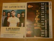 The Lafontaines - Scottish tour Glasgow concert gig posters x 2