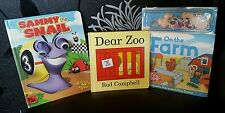 Mixed Bundle Activity Books - Dear Zoo/ On The Farm Magnet & Sammy The Snail VGC