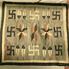 Antique Navajo Rug Crystal Whirling Logs- Feathers-Stars Natural Spirit Line