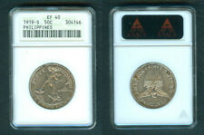 1919-S 50 Centavos US Philippine United States of America Silver Coin ANACS EF40