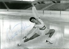 uralte AK, Photo-AK, deutsche Eiskunstläuferin Anett Pötzsch, original Autogramm