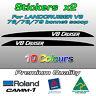 V8 CRUISER Landcruiser bonnet scoop sticker for 76 70 78 79 series