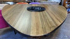 12-15 seater very Large Dining Table, Plectrum Top, Chunky 'smoked Oak Stain'