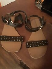 Christian Siriano for Payless SHOES FLAT SANDALS BLACK Slingback SIZE 9
