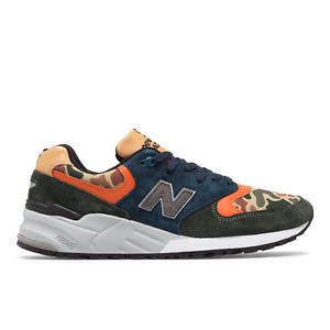 New Balance 999 Made In USA # M999NI Duck Camo Orange Men Suede Sneakers Many SZ