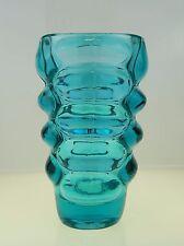 Große Türkis-Farbene Sklo Union Vase, Entwurf Vladislav Urban, Hermanova Hut