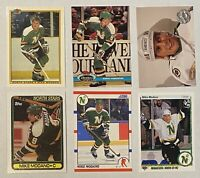 🏒HOF Mike Modano 6-CARD LOT: 4 ROOKIE cards including TIFFANY Bowman 1990-91