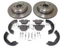 BMW E60 E61 520 525 525D 530D REAR BRAKE DISCS PADS HANDBRAKE SHOES FITTING KIT