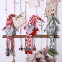 Christmas Swedish Gnome Faceless Plush Doll Hanging Home Table Tree Decor 1Pc