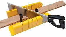 Deluxe Miter Box with Saw MADE IN USA tool 90 45 22.2 Degree Perfect Angle Cuts