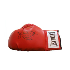 "James ""Buster"" Douglas Autographed Boxing Glove (Mike Tyson K.O. 2-10-90 Inscrip"