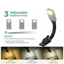 Perfect Bookmark LED Reading Clip On Book USB Lamp Light 3 Dimmable Color