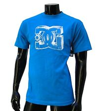 Dc shoes usa skateboard Classic Rock logo mens blue t shirt Medium