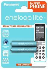 Panasonic Enloop Lite 550 mAh 550mAh Rechargeable Batteries Battery AAA - 2 Pack