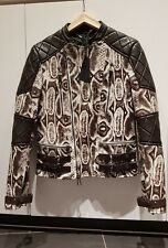 Belstaff Croxton Moto Exotic Python Snakeskin Leather Jacket Medium M 48 £6,950